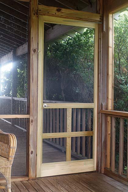 Wood Screen Enclosures : Wooden screen doors casual cottage