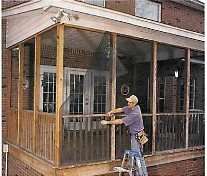 Do it yourself diy screened porch remove the solutioingenieria Images