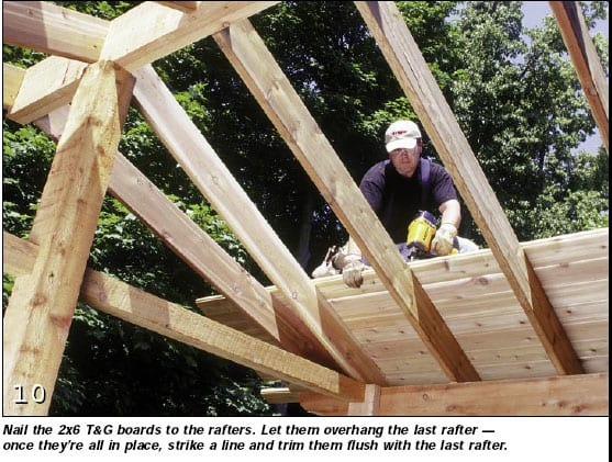 How to build a screen porch onto an existing deck structure for Roof sheathing thickness