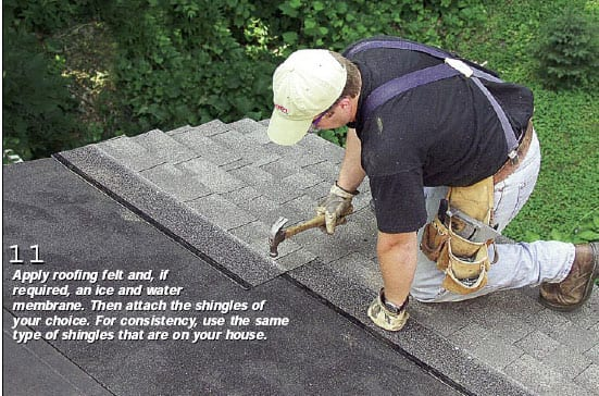 Photo 11 - Installing roofing shingles