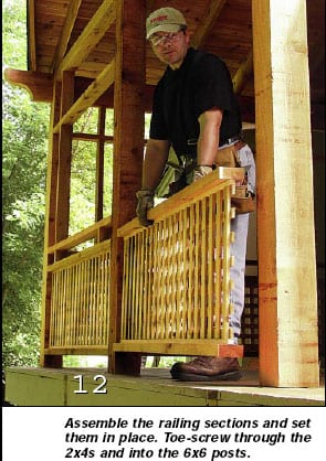 Photo 12 - Installing porch railings