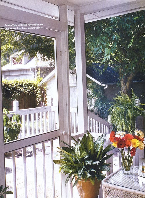 Screen Tight materials have made this porch more functional and attractive.