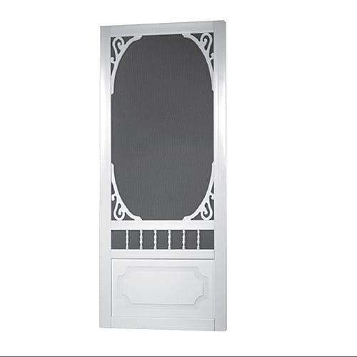 Solid vinyl screen door models screen tight - 30 x 80 exterior door with pet door ...