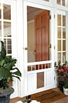 Solid Vinyl Screen Doors