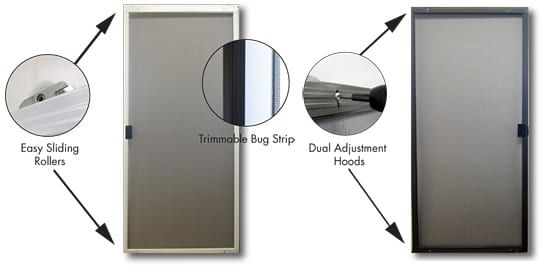 Sliding screen doors screen tight for Universal sliding screen door
