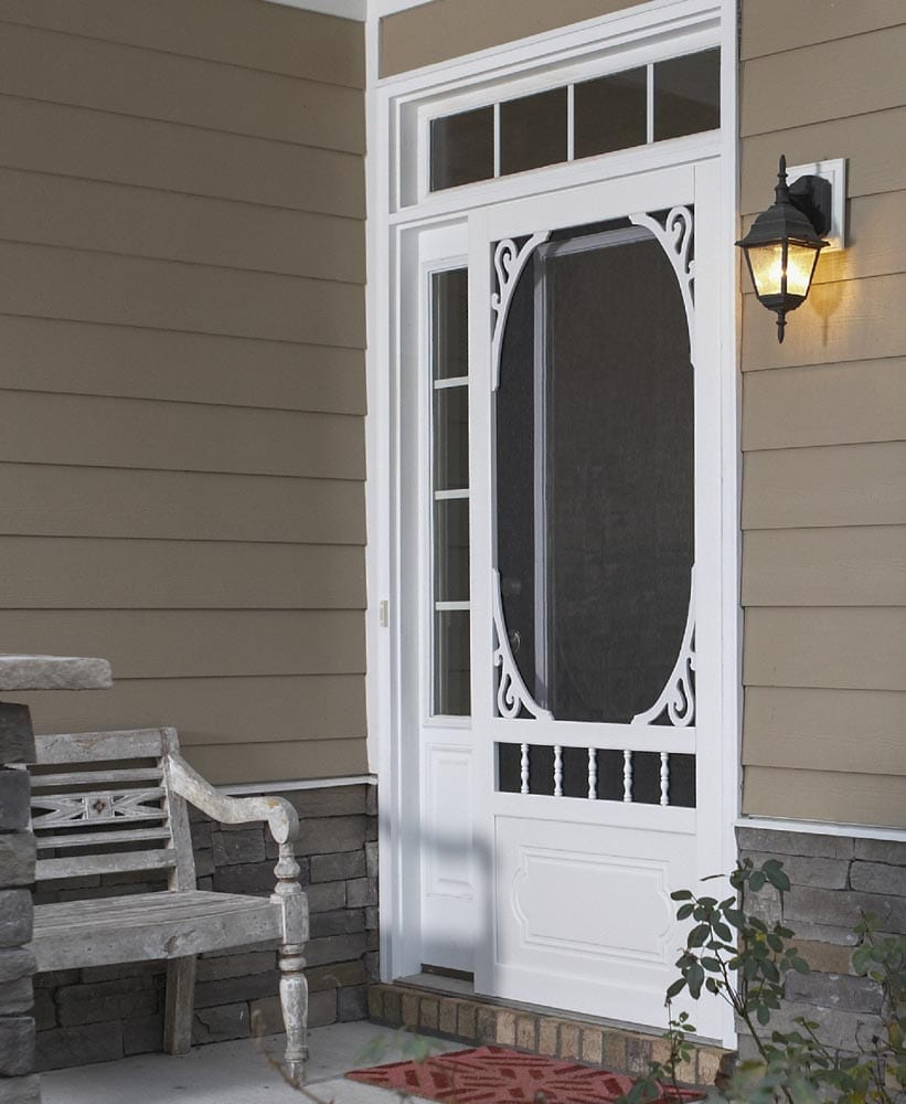 Screen doors from screen tight screen tight belle harbour white vinyl screen door eventelaan Gallery