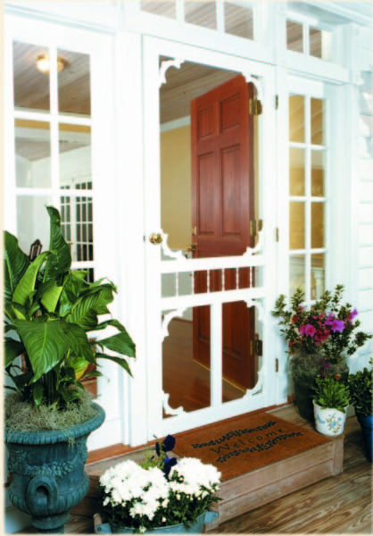 Carolina White Vinyl Screen Door