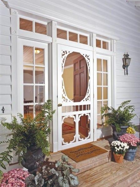 Charlestowne White Vinyl Screen Door