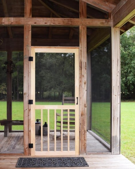 Five Bar Wood Screen Door