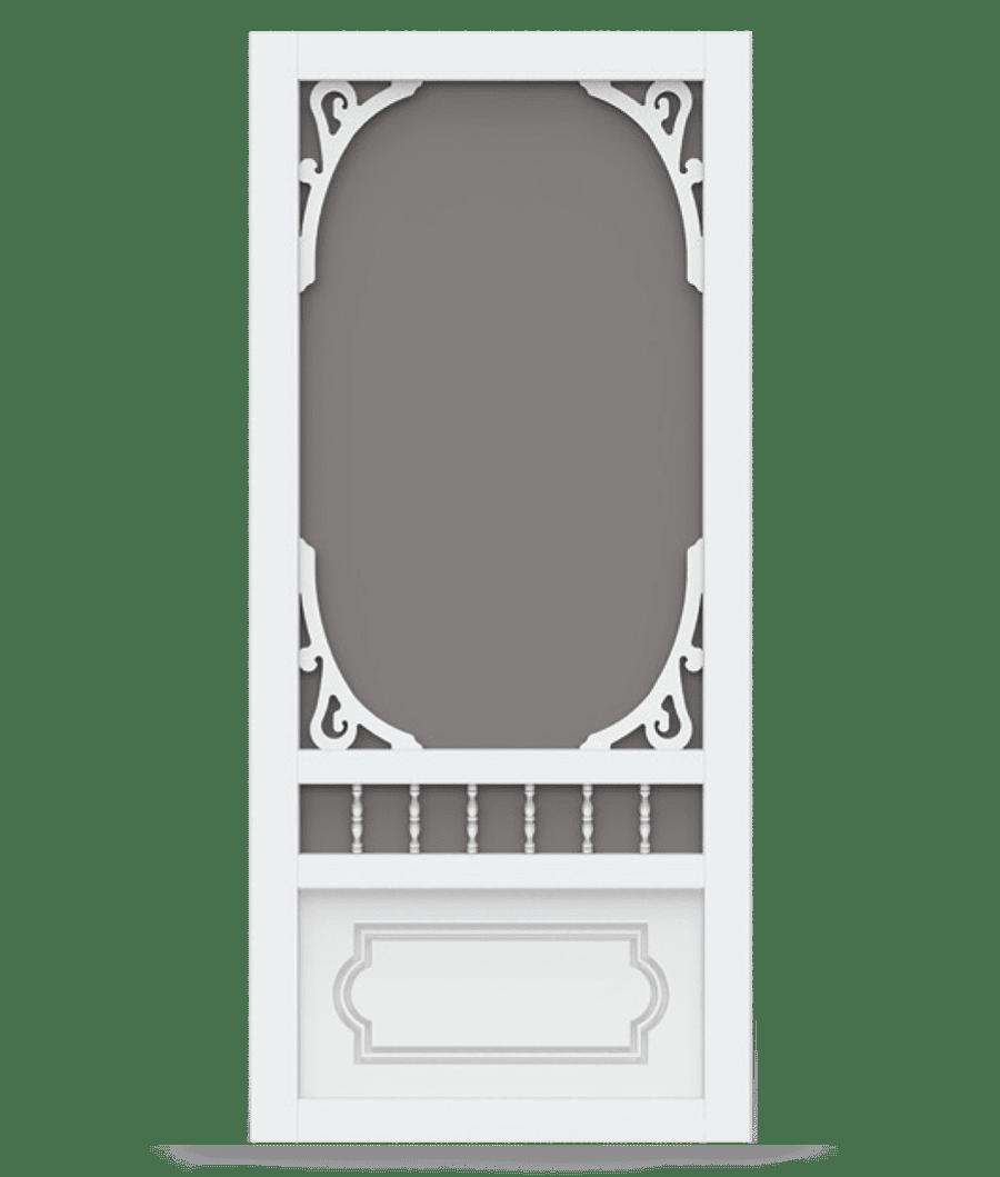 9974cb37968 Belle Harbour White Vinyl Screen Door - Screen Tight