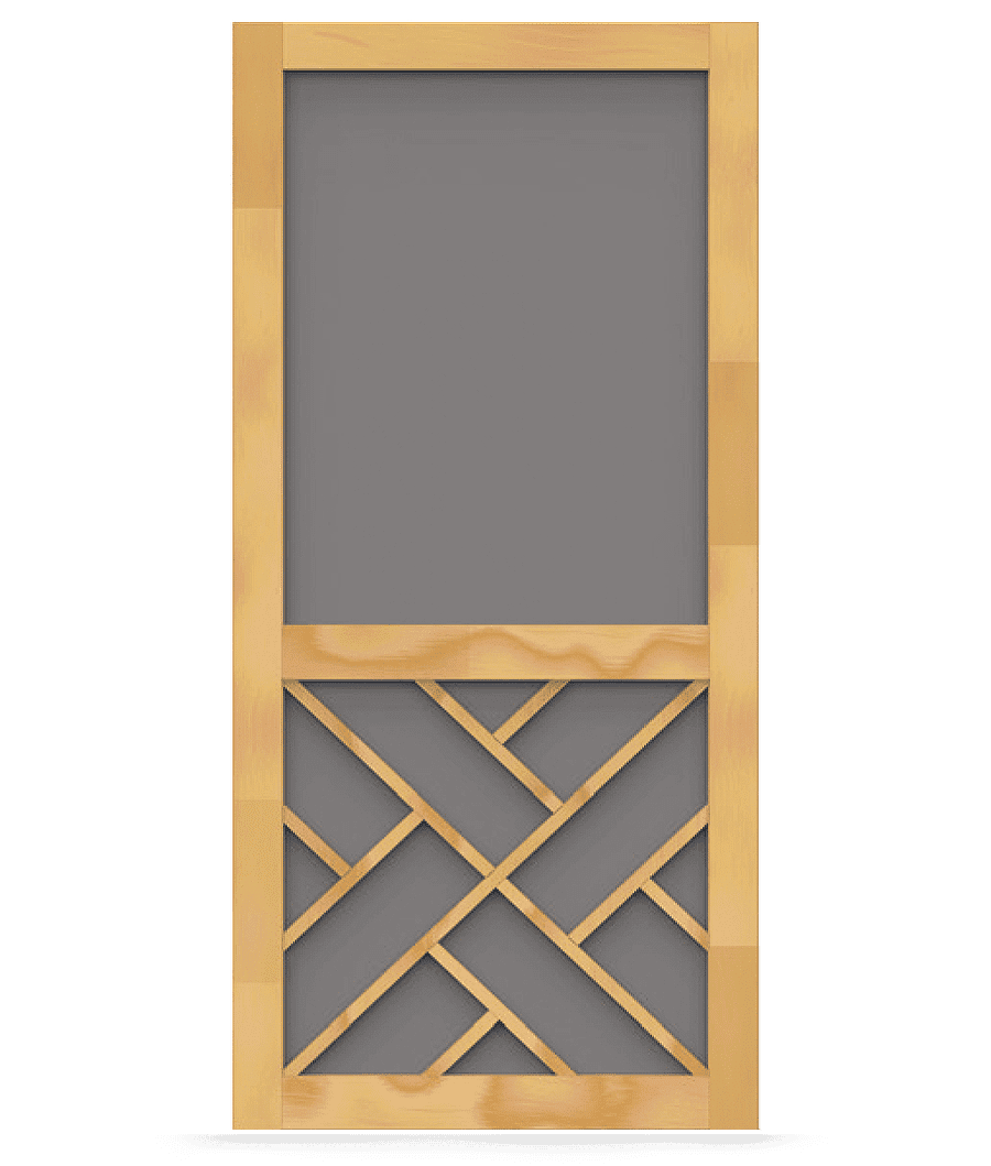 Wood Screen Doors With Removable Screens : Chippendale wood screen door tight and solid