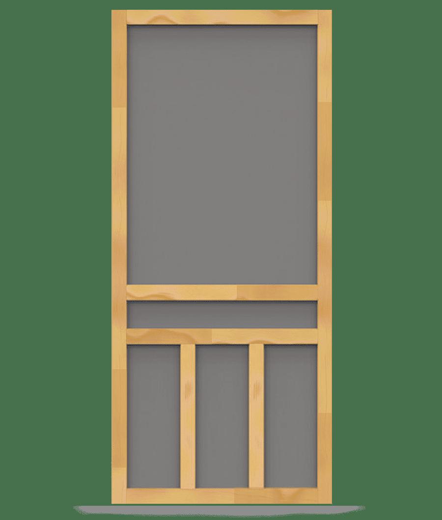 Creekside wood screen door screen tight wood and solid for Wood screen doors