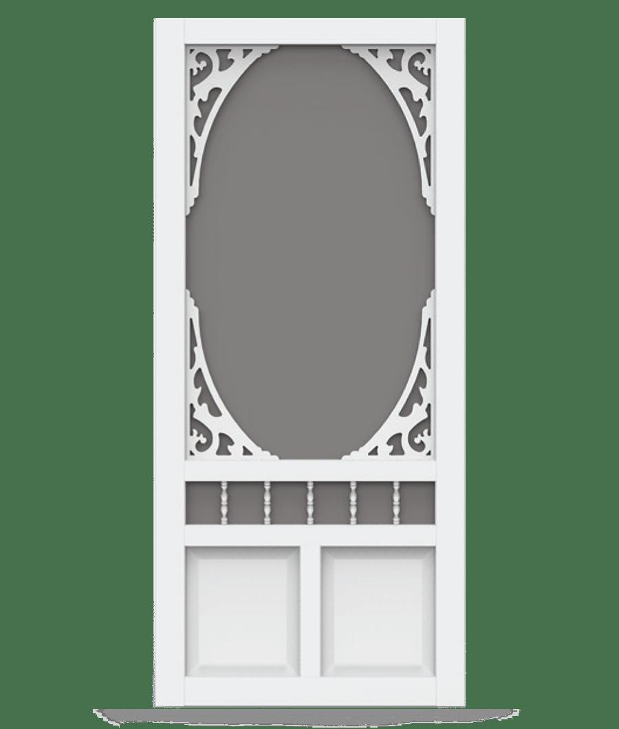 Georgian White Vinyl Screen Door Screen Tight Wood And