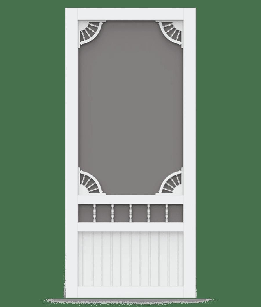 Laurel Bay White Vinyl Screen Door