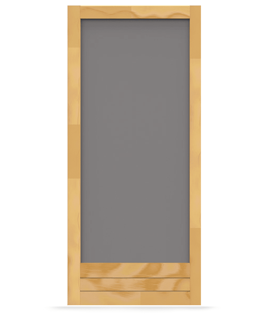 Wood Screen Doors With Removable Screens : Meadow wood screen door tight and solid