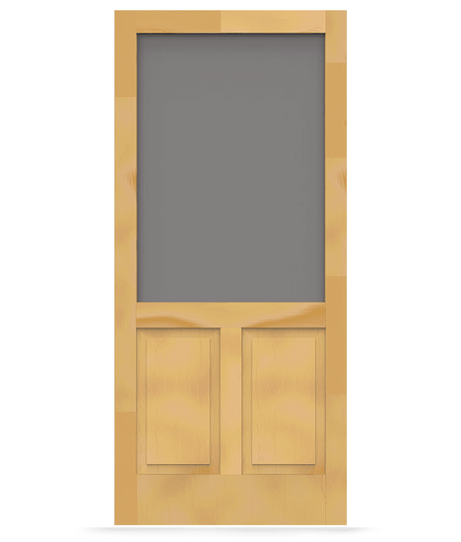Wood Screen Doors With Removable Screens : Pioneer wood screen door tight and solid