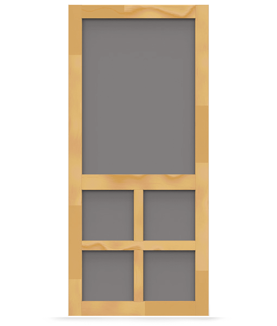 Wood Screen Doors With Removable Screens : Summit wood screen door tight and solid