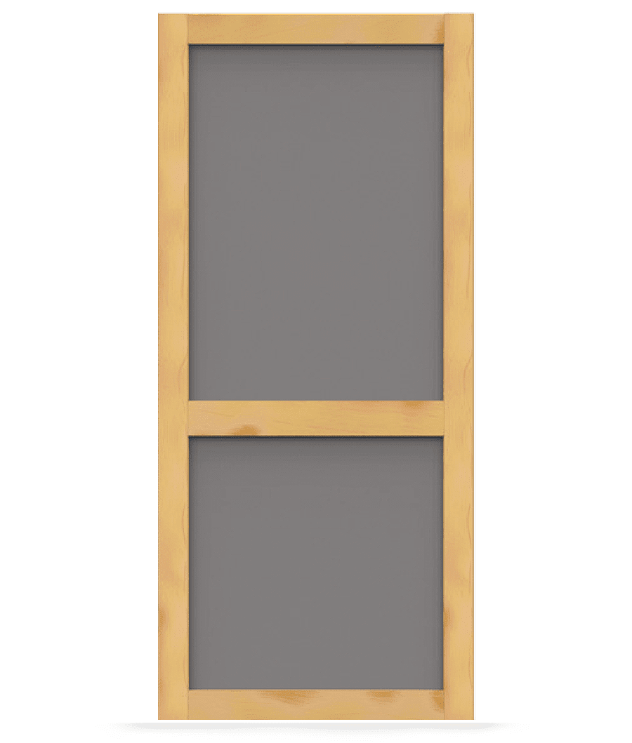 Wood Screen Doors With Removable Screens : Craftsman wood screen door tight and solid