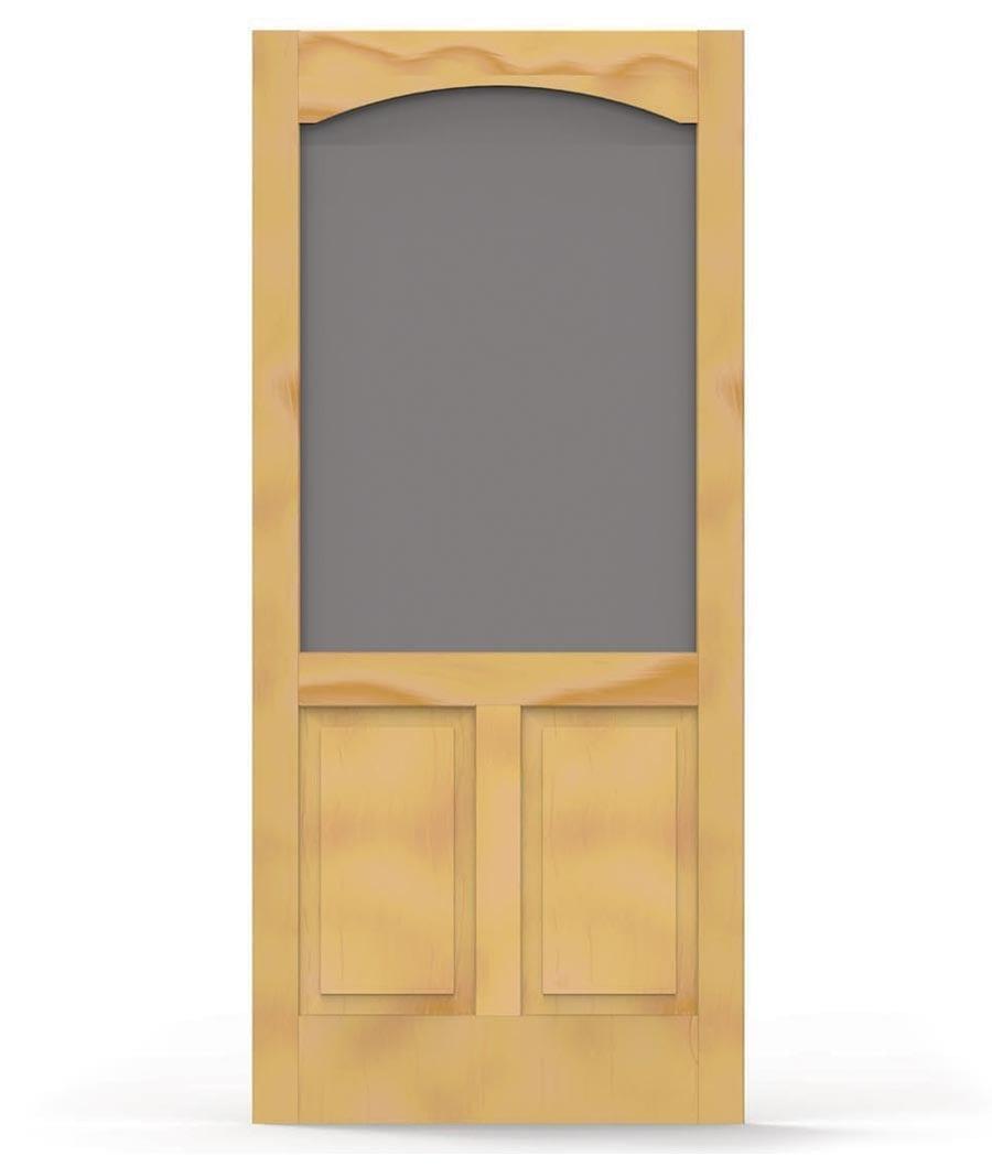 Pioneer Door with Arch Trim - Screen Tight Wood and Solid Vinyl Screen Doors  sc 1 st  Screen Tight & Pioneer Door with Arch Trim - Screen Tight Wood and Solid Vinyl ...