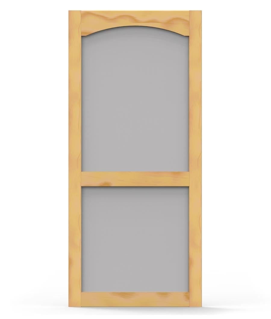 Woodcraft with top arch trim screen tight wood and solid