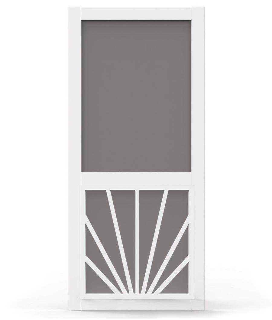 Sunburst door insert custom wood storm screen for Storm door screen insert