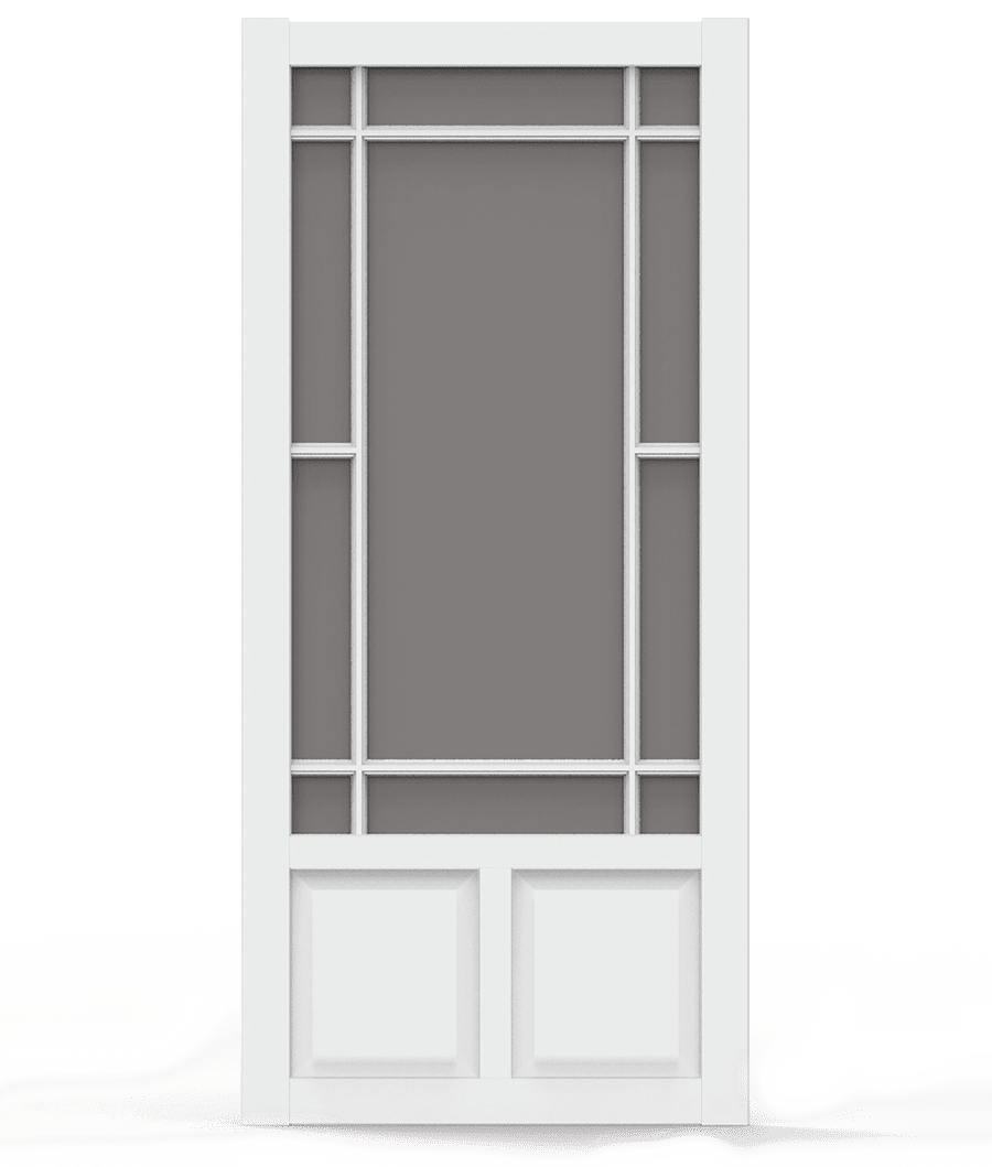 Prairieview White Vinyl Screen Door Screen Tight