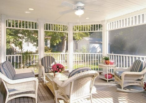 screen porch wicker chair