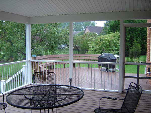 Enclosed and Unenclosed Porch