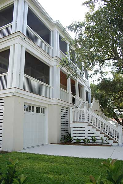 Second Story Screen Porch with Large Openings
