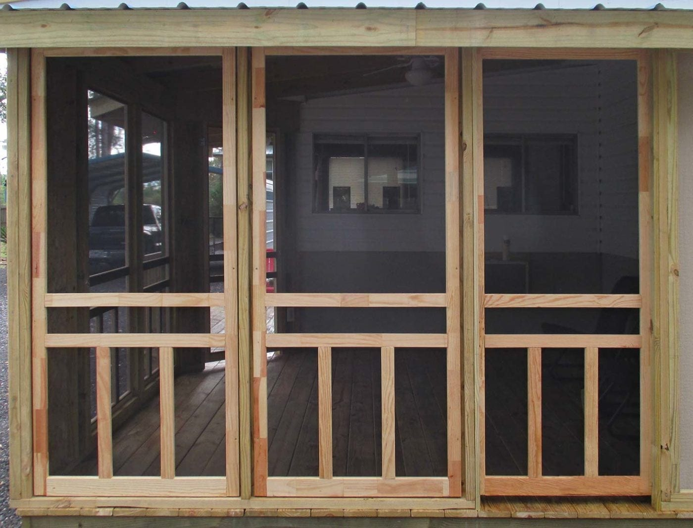 Porch Framed with Screen Doors