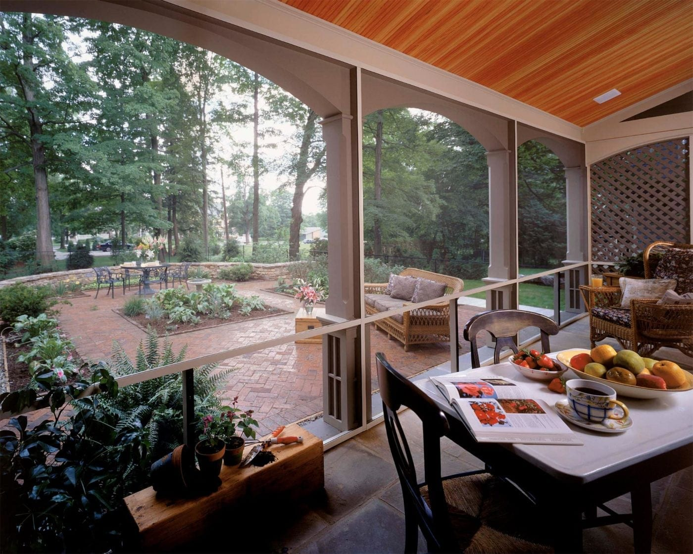 Screen Tight Porch Interior