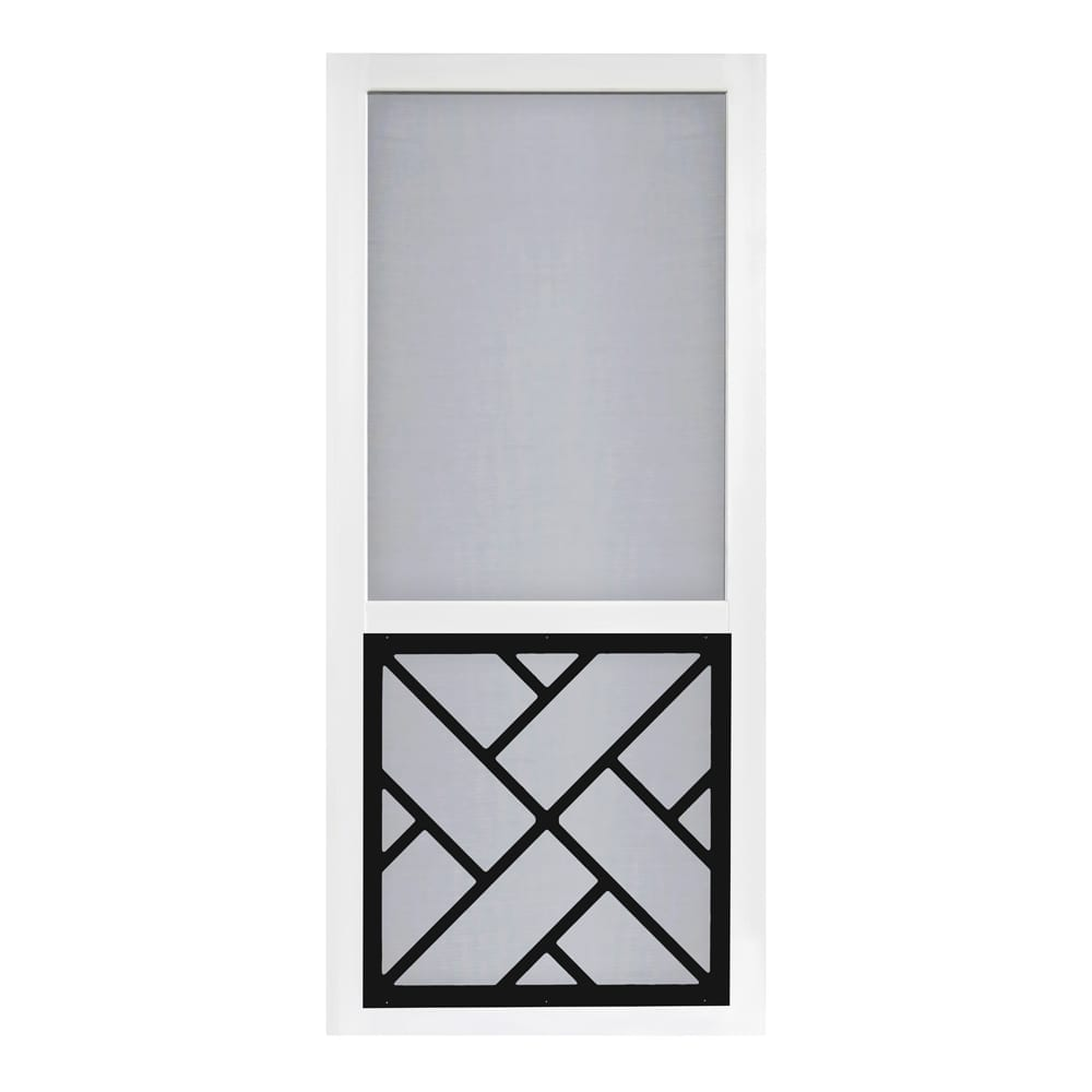Chippendale Black Insert Vinylcraft Screen Door Screen Tight