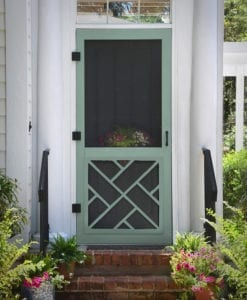 Chippendale Wood Screen Door