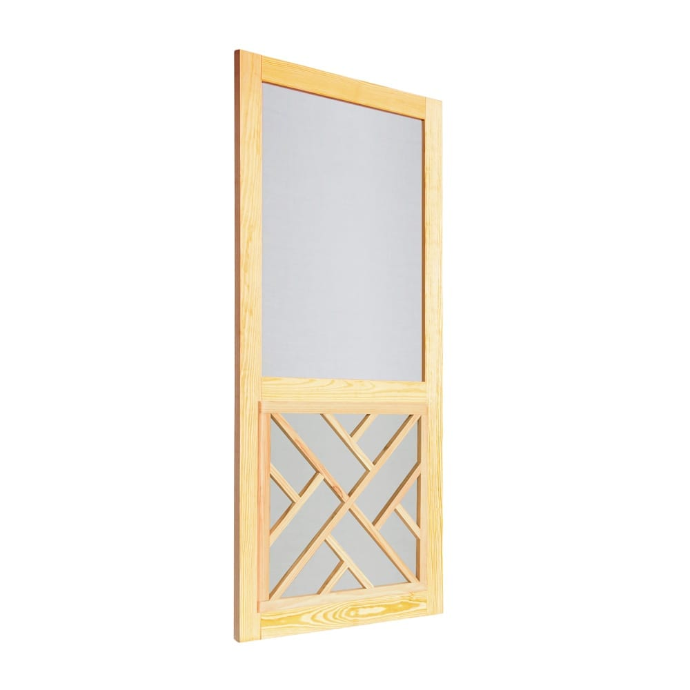 Chippendale Wood Insert Woodcraft Screen Door Screen Tight