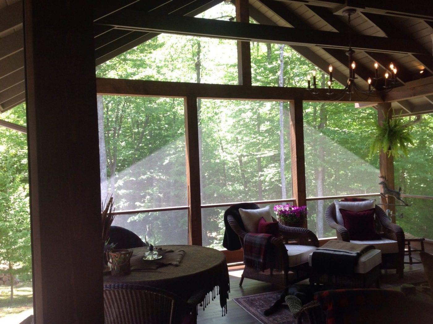 DIY Porch Screening Adirondacks