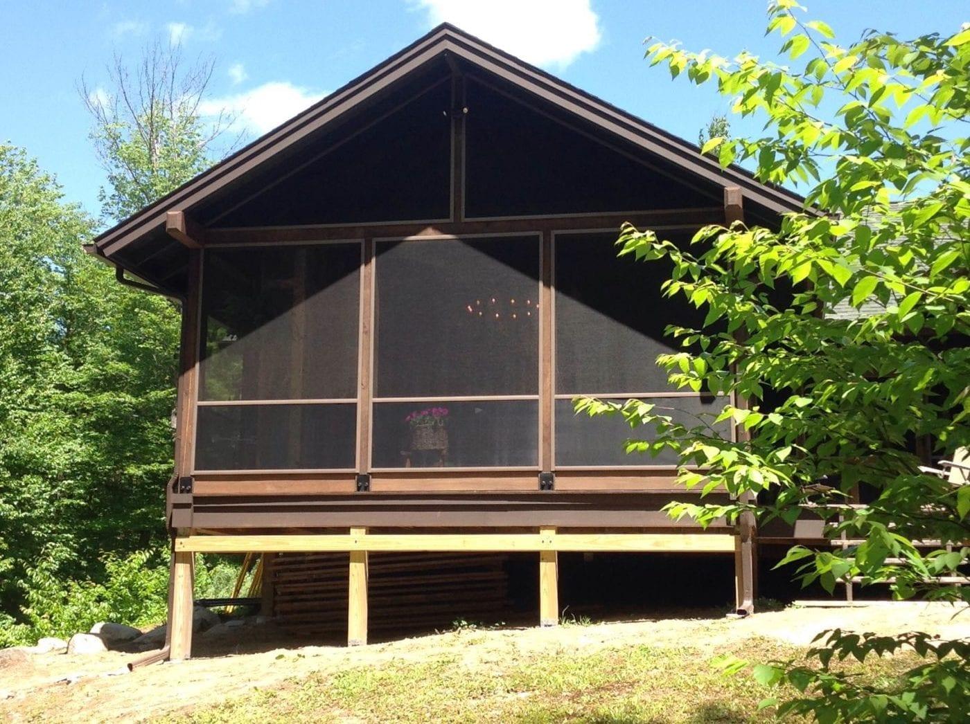 DIY Screened-in Porch Adirondacks