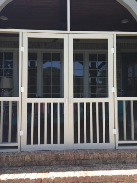 Five Bar Screen Door French Door Install