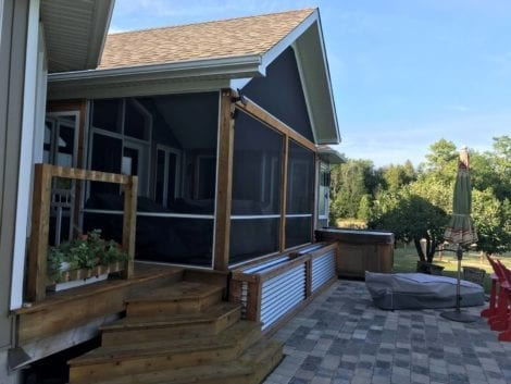 MeshGuard Screen Tight Porch with Gable Roof Screening