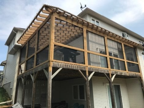 Wrap-Around Porch with MeshGuard and Screen Tight