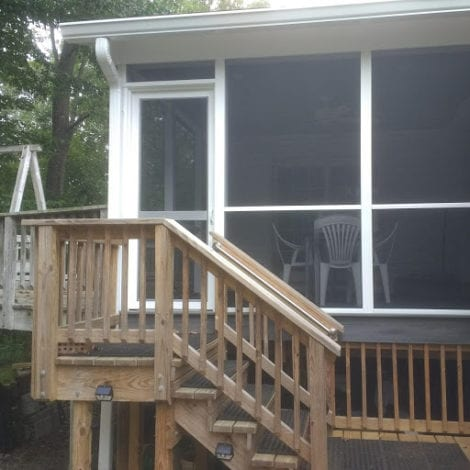 MeshGuard Screen Tight Porch with Vinylcraft Screen Door