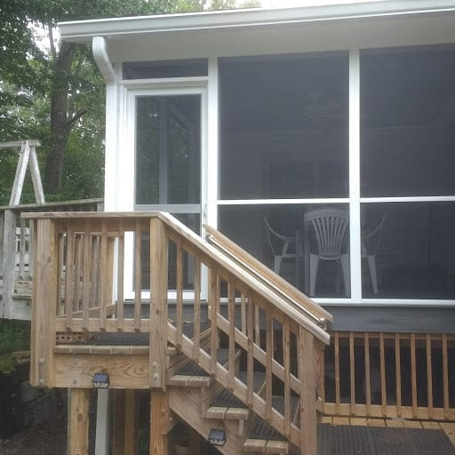 MeshGuard Screen Tight Porch with Vinylcraft Screen Door