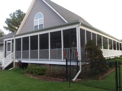 Wrap Around Screen Porch with Open Air Porch