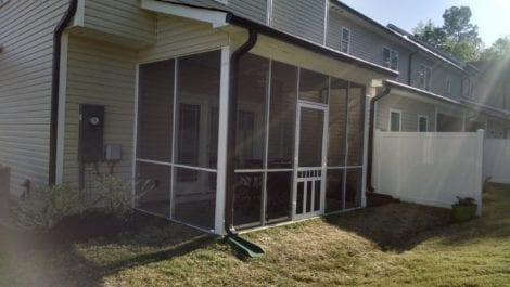 Mini Track Porch with Waccamaw Vinyl Door