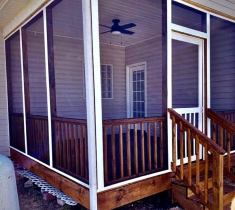 Simple Screen Tight Porch Project