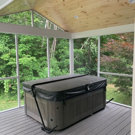Screen Porch with Hot Tub