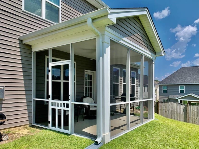 Screened Patio With Waccamaw Door, How To Screen In A Patio Porch