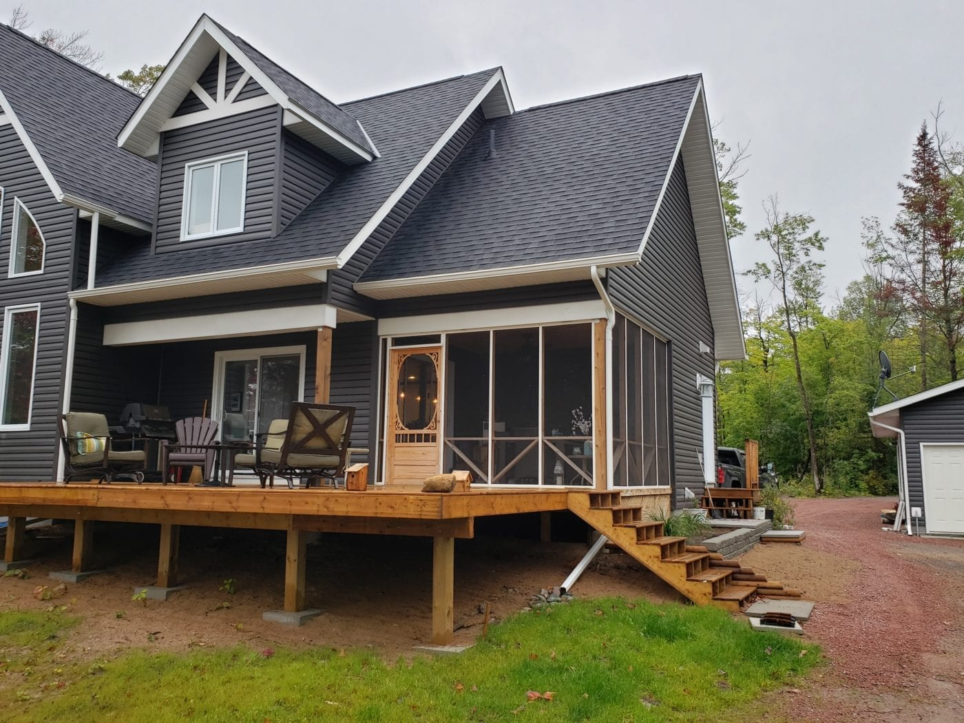 Two-Sided Screen Porch in Canada