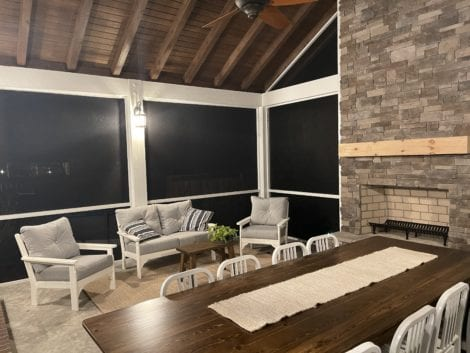 Fast Track Screen Porch with Fireplace